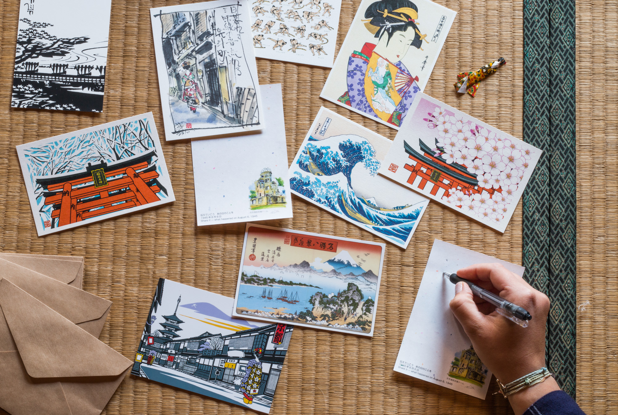 postcards, Japan
