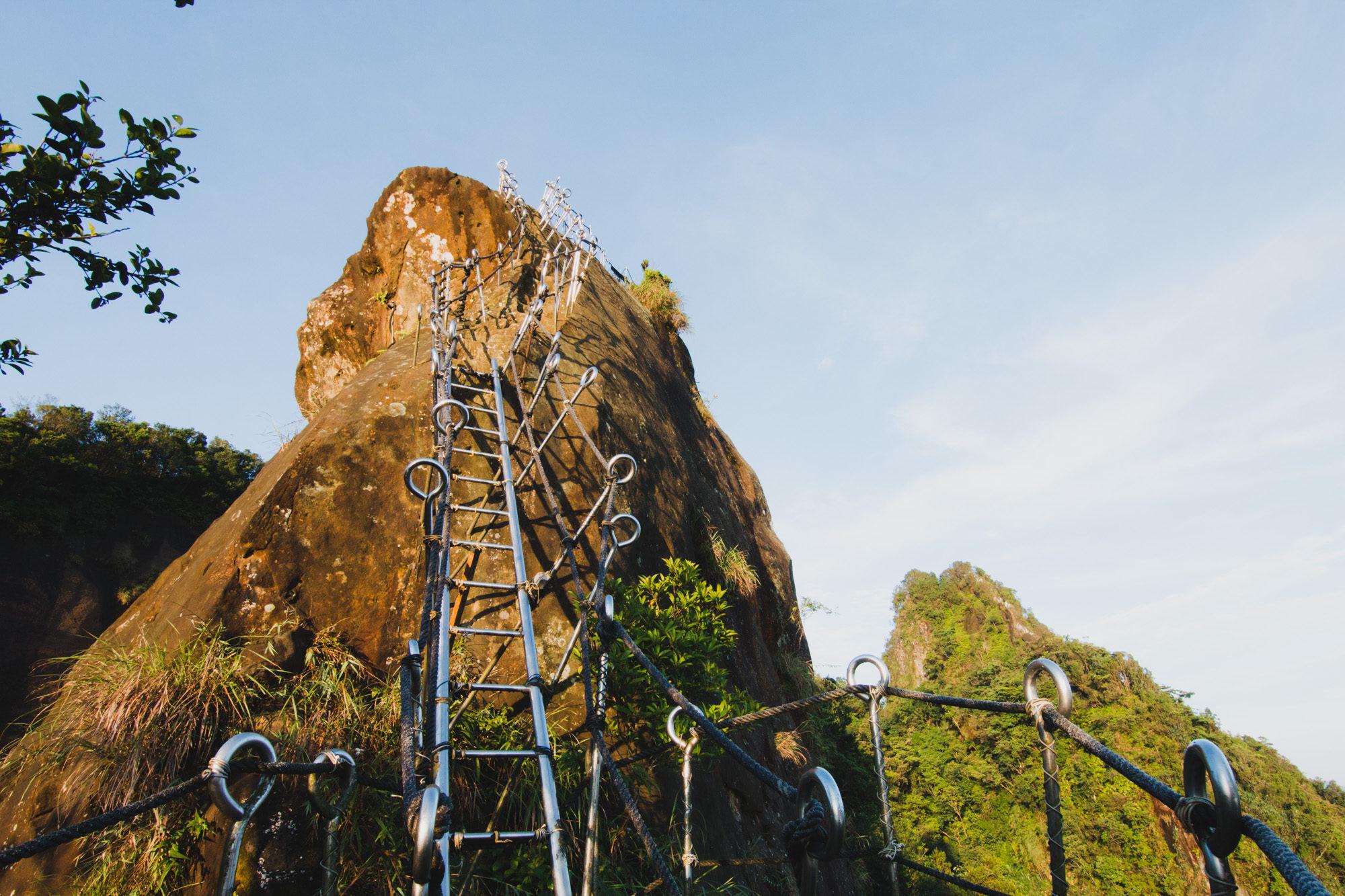 Staircase to Xiaozi Mountain, Pingxi, Taiwan