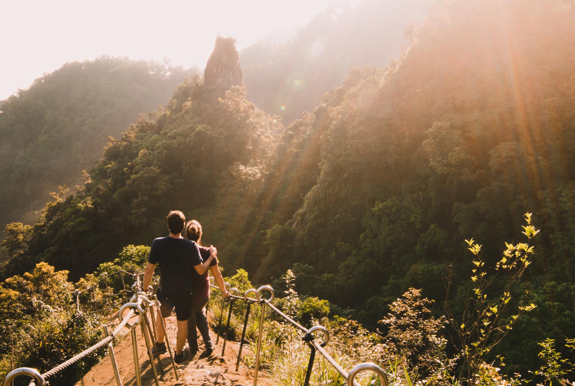 Xiaozi Mountain views from Motherly Loving Mountain, Pingxi, Taiwan